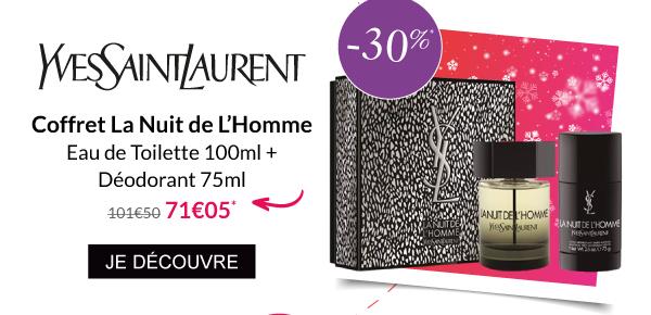 Coffret La Nuit de L'homme Parfum Déodorant Yves Saint Laurent