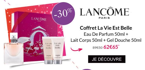 Coffret La Vie est Belle Parfum Lait Corps Gel Douche Lancome